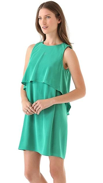 Tibi Mila Back Drape Silk Dress