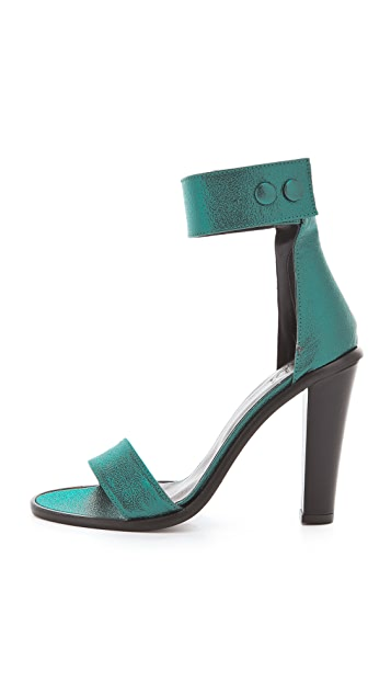 Tibi Barbara Heels with Snaps