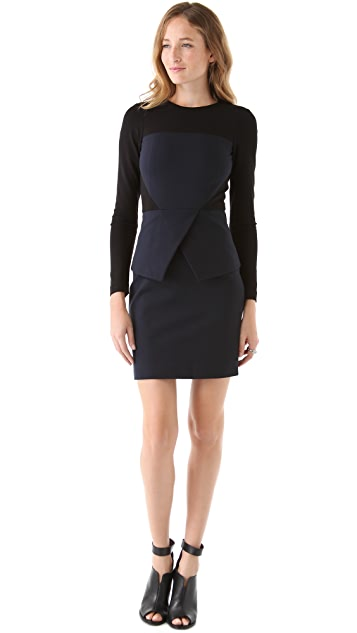 Tibi Ponte Colorblock Dress