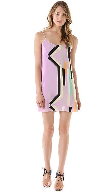 Tibi Arizona Print Slip Dress