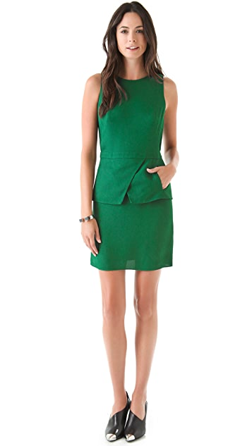 Tibi Short Peplum Dress