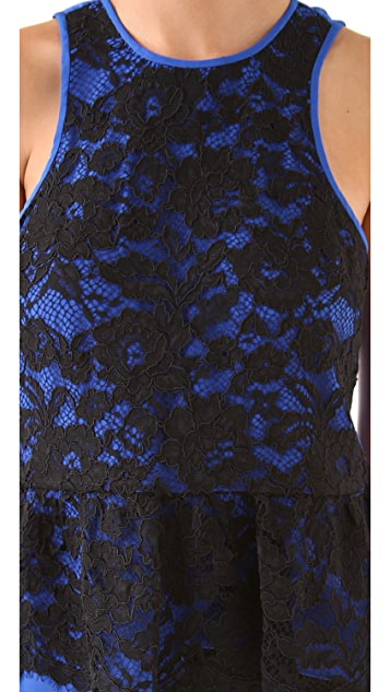 Tibi Lace Sleeveless Top