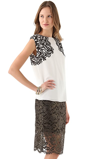 Tibi Evelyn Sleeveless Top