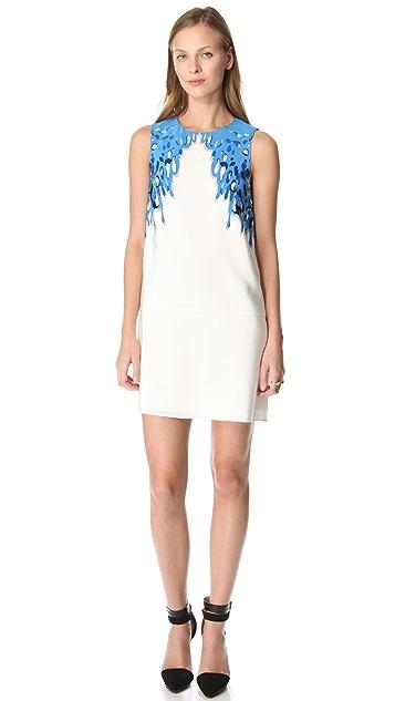 Tibi Coral Print Silk Dress