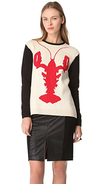 Tibi Lobster Intarsia Sweater