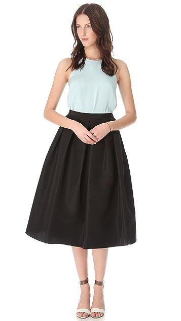 Tibi Full Silk Skirt