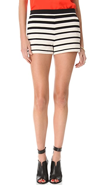 Tibi Variegated Stripe Knit Shorts