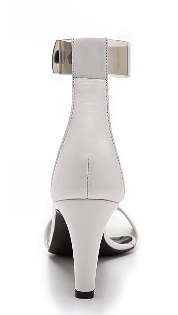 Tibi Clara Clear Strap Sandals