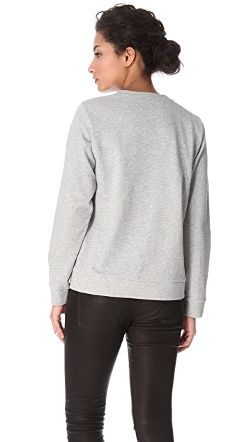 Tibi Lobster Lace Sweatshirt
