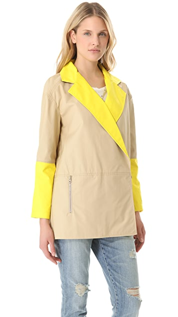 Tibi Rubberized Pea Coat