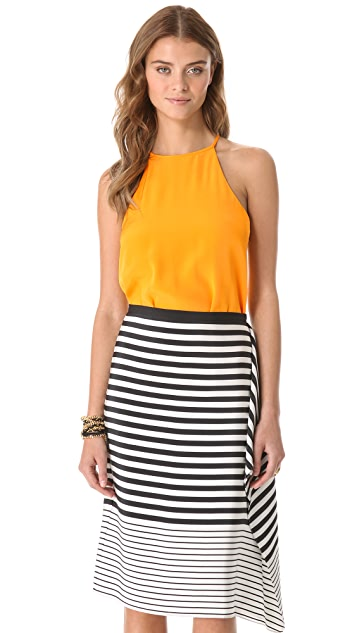 Tibi Silk Halter Top