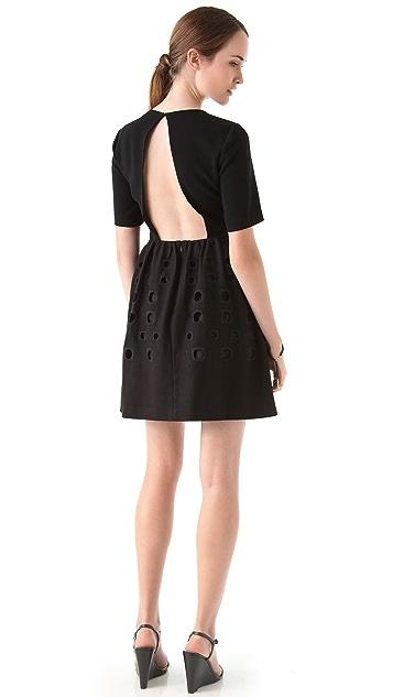 Tibi Inez Embroidered Dress