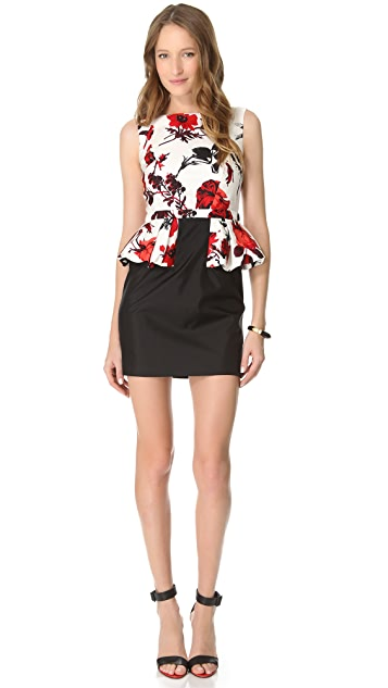 Tibi Belle Peplum Dress