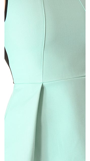 Tibi Anson Colorblock Peplum Top
