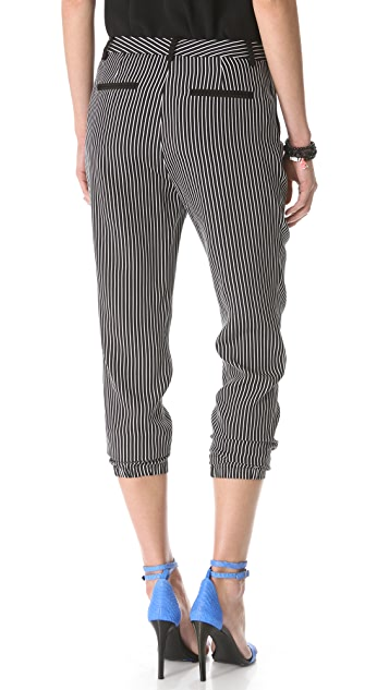 Tibi Stripe Pleated Pants