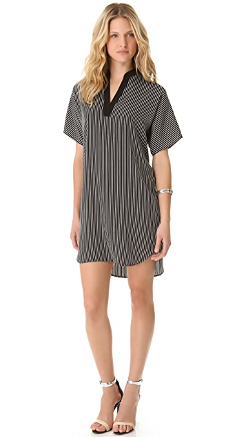 Tibi Stripe Tunic Dress