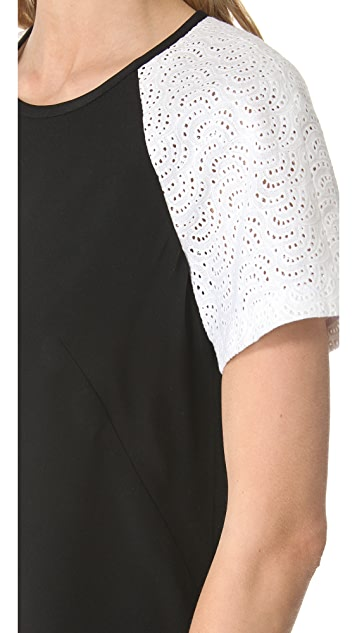 Tibi Carey Embroidery Dress