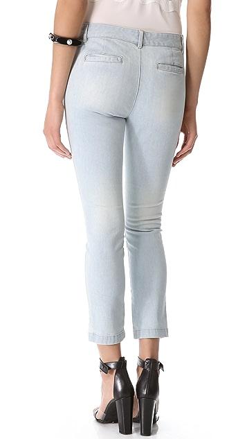 Tibi Vintage Wash Seamed Pant