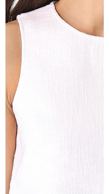 Tibi Basket Weave Sleeveless Top