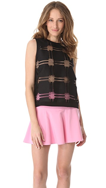 Tibi Organza Sleeveless Top
