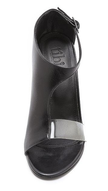 Tibi Elliot Asymmetrical Booties