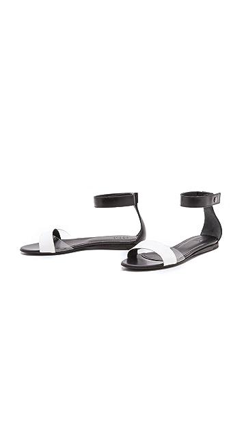 Tibi Brady Flat Sandals