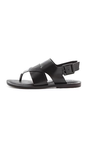Tibi Declan Flat Sandals