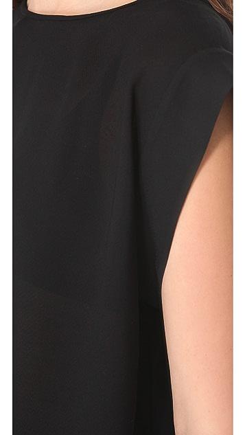 Tibi Open Weave Sleeveless Top