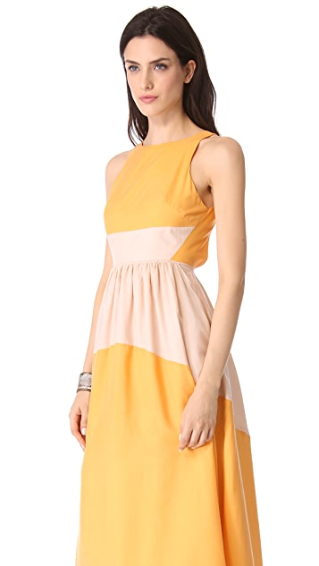 Tibi Colorblock Maxi Dress