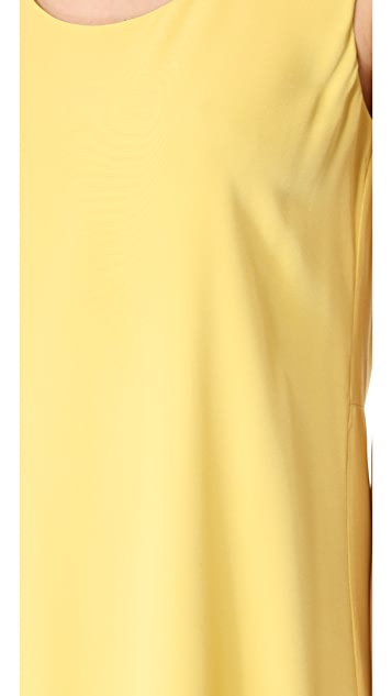 Tibi Slit Back Refined Tank Dress