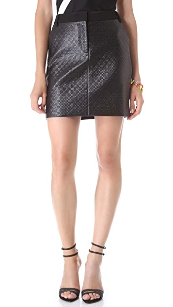 Tibi Embossed Diamond Trouser Skirt