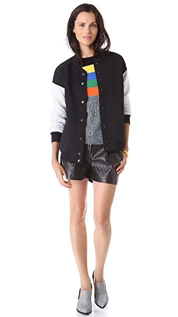 Tibi Embossed Diamond Shorts