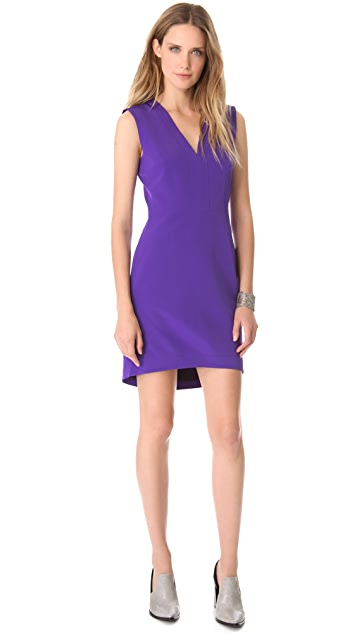 Tibi V Neck Panel Dress