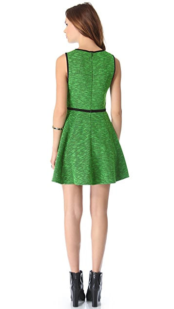 Tibi Tweed Knit Flared Dress