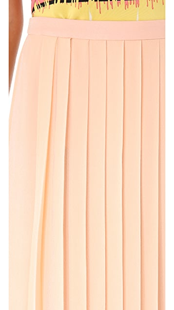 Tibi Pleated Maxi Skirt