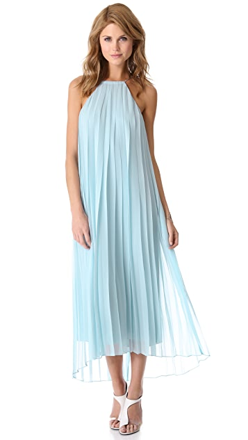 Tibi Pleated Chiffon Dress