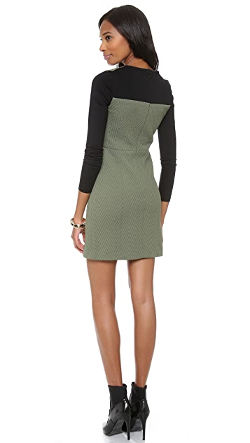 Tibi Long Sleeve Fitted Dress