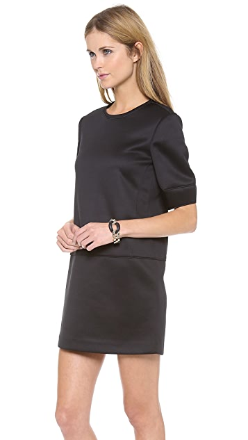 Tibi Short Sleeve Sculpted Dress