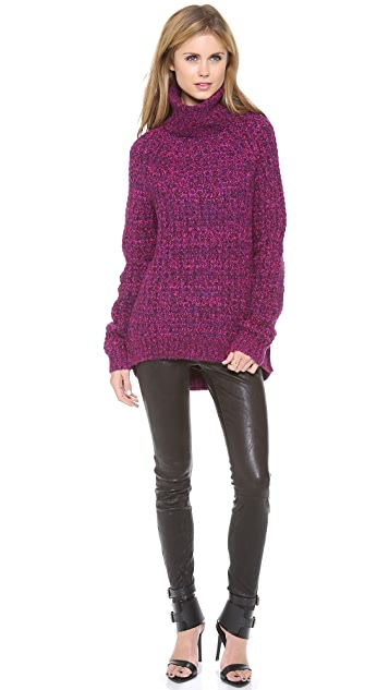 Tibi Oversized Turtleneck Pullover