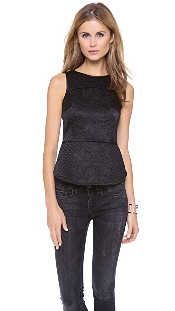 Tibi Sleeveless Patchwork Top