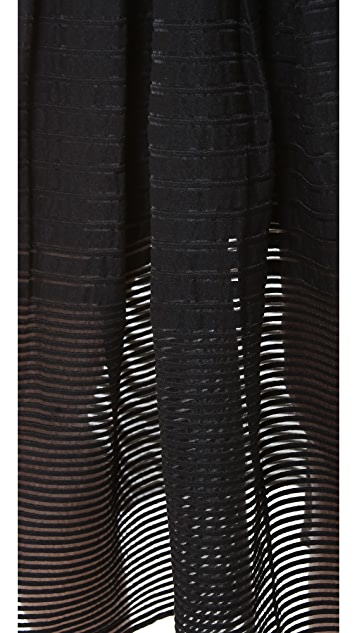 Tibi Sheer Striped Party Skirt