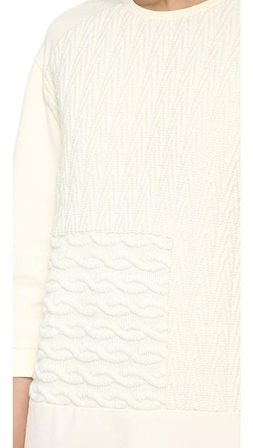 Tibi Sculpted Patchwork Dress