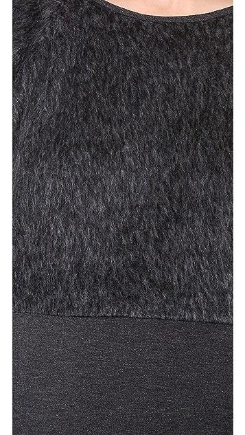 Tibi Faux Fur Sweatshirt
