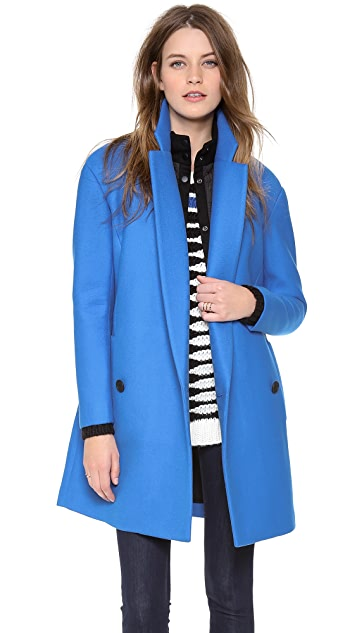 Tibi Oversize Drop Shoulder Coat with Removable Lining