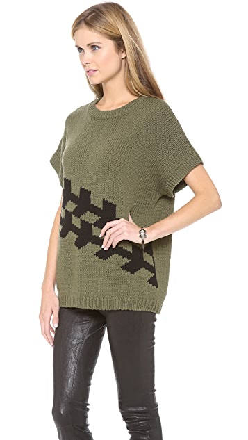 Tibi Corded Chevron Sweater