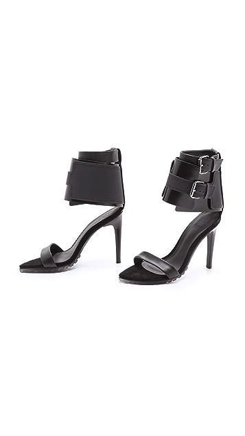 Tibi Riley Ankle Cuff Sandals