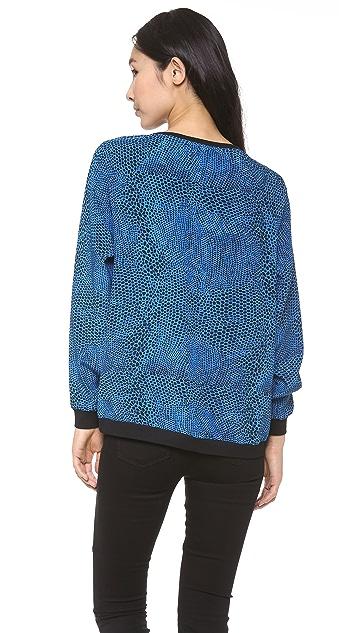 Tibi Nelio Dot Silk Sweatshirt