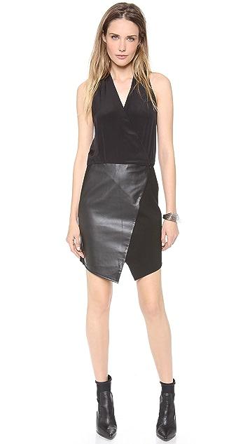 Tibi Asymmetrical Wrap Dress