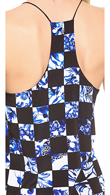 Tibi Rococo Check Camisole