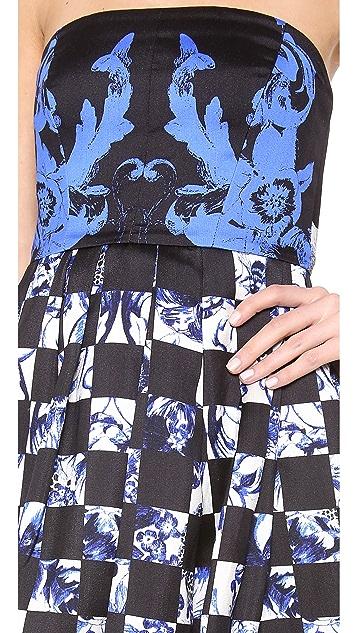 Tibi Rococo Check Statement Dress